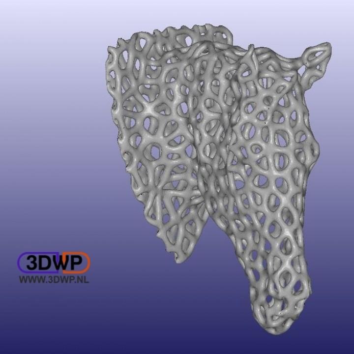 3D Printable Horse Head Voronoi Style by 3DWP