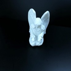 Picture of print of Contemplating Angel Sculpture (Statue 3D Scan)