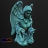 Contemplating Angel Sculpture (Statue 3D Scan) image
