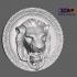 Lion Head Wall Hanger (Door Lion 3D Scan) image