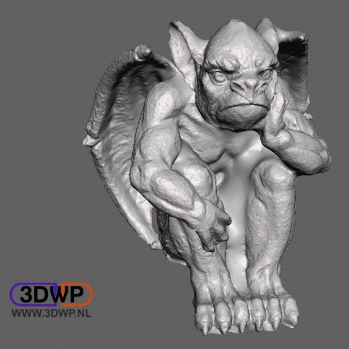 3D Printable Gargoyle Sculpture (Statue 3D Scan) by 3DWP