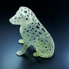 Picture of print of Labrador Sculpture Pattern (Voronoi Style)