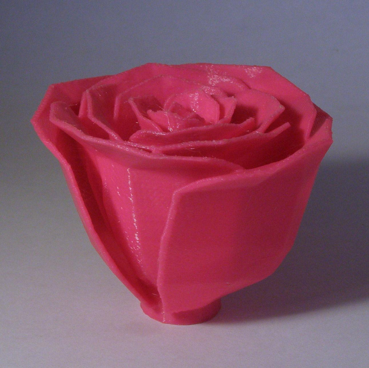 3D Printable Jillian's Rose Fixed (Made Solid With MeshMixer