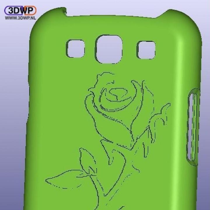 Samsung Galaxy S3 Rose Case
