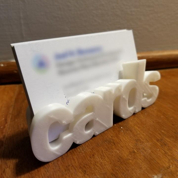 Literal Business Cards Holder