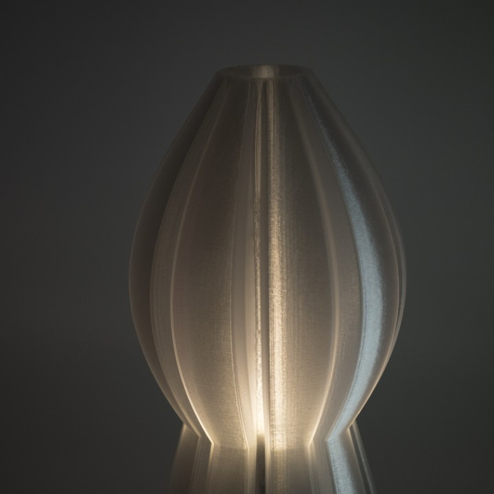 3D Printable Rocket Lamp by Ian Blinkhorn