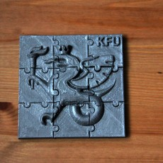 Picture of print of Kazan federal university logo puzzle