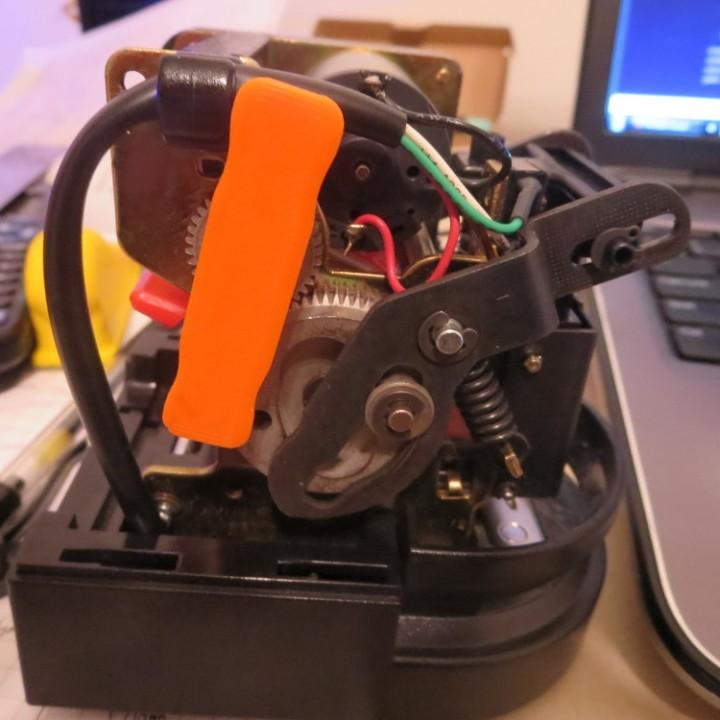 3D Printable Swingline Electric Stapler Gear Key by Alex Putnam on