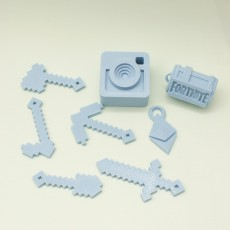 Picture of print of 9 keychain