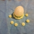 Rainbow Easter egg print image