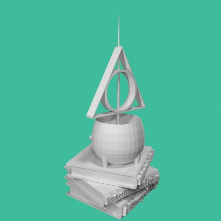 photo regarding Harry Potter Trivia Printable called 3D Printable Harry Potter trivia trophy by way of Mr. M.