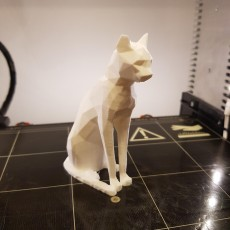 Picture of print of Low Poly British Museum Cat