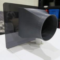Laser cutter exhaust fan shroud