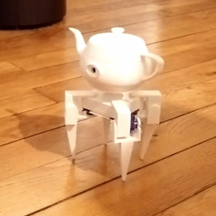 Eyepot, a creepy robotic teapot