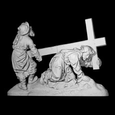 Christ Falls Beneath the Cross