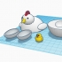 Chicken in Egg in Chicken #TinkercadEaster image