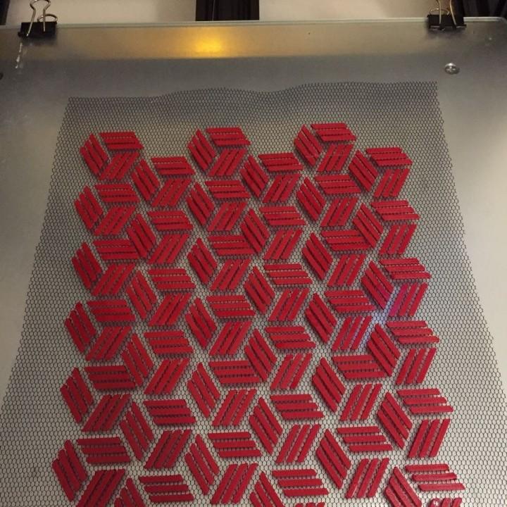 Stripe-Hexa (on fabric)