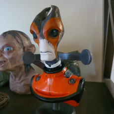 Picture of print of Salarian bust - Mass Effect