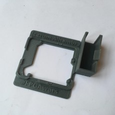 Picture of print of IceZum Alhambra support with 9 volts battery holder