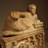 Cinerary Urn with Lid: Reclining Man with Omphalos Bowl image