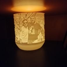 Picture of print of Lithophane IKEA tea light shades