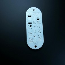 Picture of print of allergy dog tags