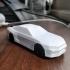 Low-poly Nissan R34 GTR print image