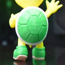 Picture of print of Koopa troopa green (Greeting pose) from Mario games - Multi-color