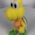 Koopa troopa green (Greeting pose) from Mario games - Multi-color print image