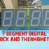 7 SEGMENT DIGITAL CLOCK AND THERMOMETER image