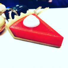 Picture of print of Multi-Color Pie Keychain
