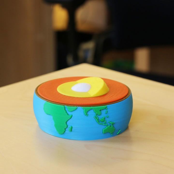 Multi-Color Earth Core Model