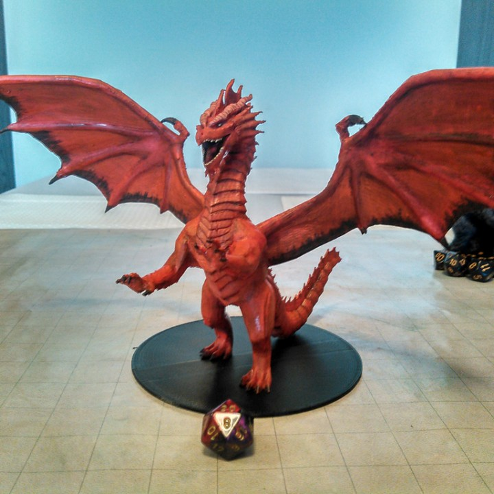 3D Printable Red Dragon By Miguel Zavala