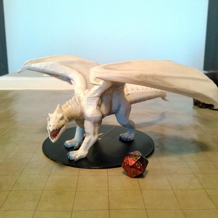 3D Printable White Dragon by Miguel Zavala