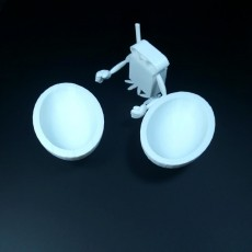 Picture of print of Kinder egg and wind-up toy