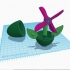 Flower Wheel Egg Toy #TinkercadEaster image