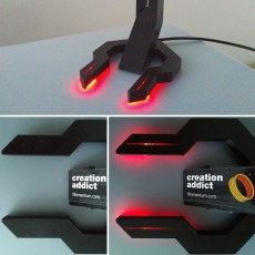 Picture of print of Headset stand HYM V2 with LED