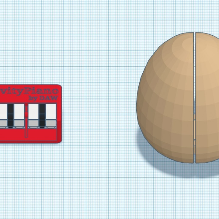 Easter Egg with GravityPiano (working) by DAW #TinkercadEaster