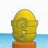 Easter Egg Minion Trophy #TinkercadEaster image