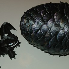 Dragon Egg & Dragon - Articulated