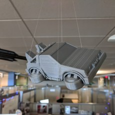 Picture of print of Puffy Vehicles - Flying DeLorean from Back to the Future