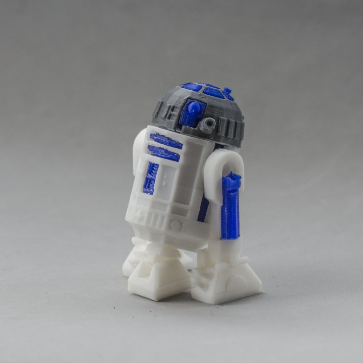 graphic relating to R2d2 Printable called 3D Printable R2D2 through Aitor Baltziskueta