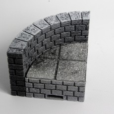 OpenForge Cut-Stone OpenLOCK Curved Risers