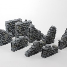 3D Printable OpenLOCK Columns And Side Locking Walls by