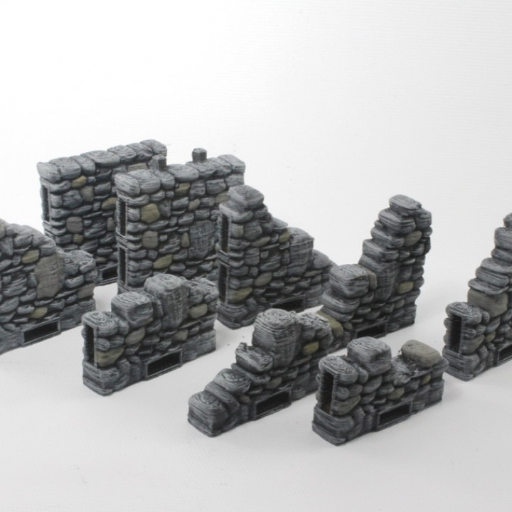 OpenLOCK Ruined Columns & Side Locking Walls