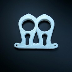 Picture of print of 2 finger self defense tool keychain (knuckle duster) Questa stampa è stata caricata da Li WEI Bing