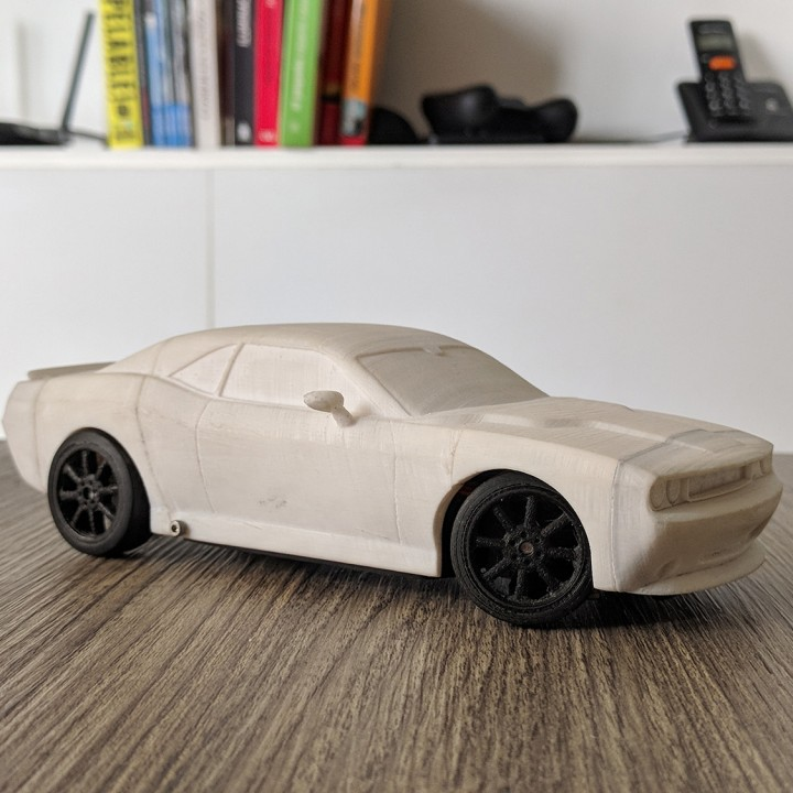DODGE CHALLENGER BODY FOR OPENZ 1:28 RC CHASSIS V3B