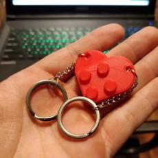 Lego Heart Keychain