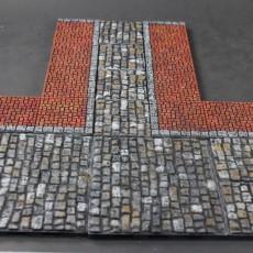 OpenForge Cobblestone Streets: Square Pattern