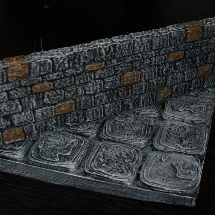 OpenForge Stone Dungeon Diagonal Walls